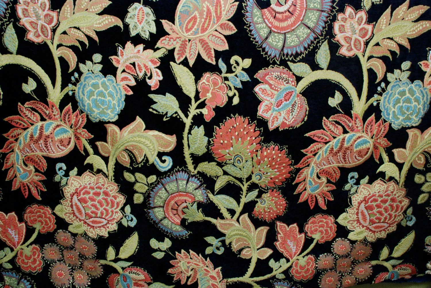 Bright Floral Upholstery Fabric