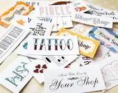 Custom Order Fabric Label...