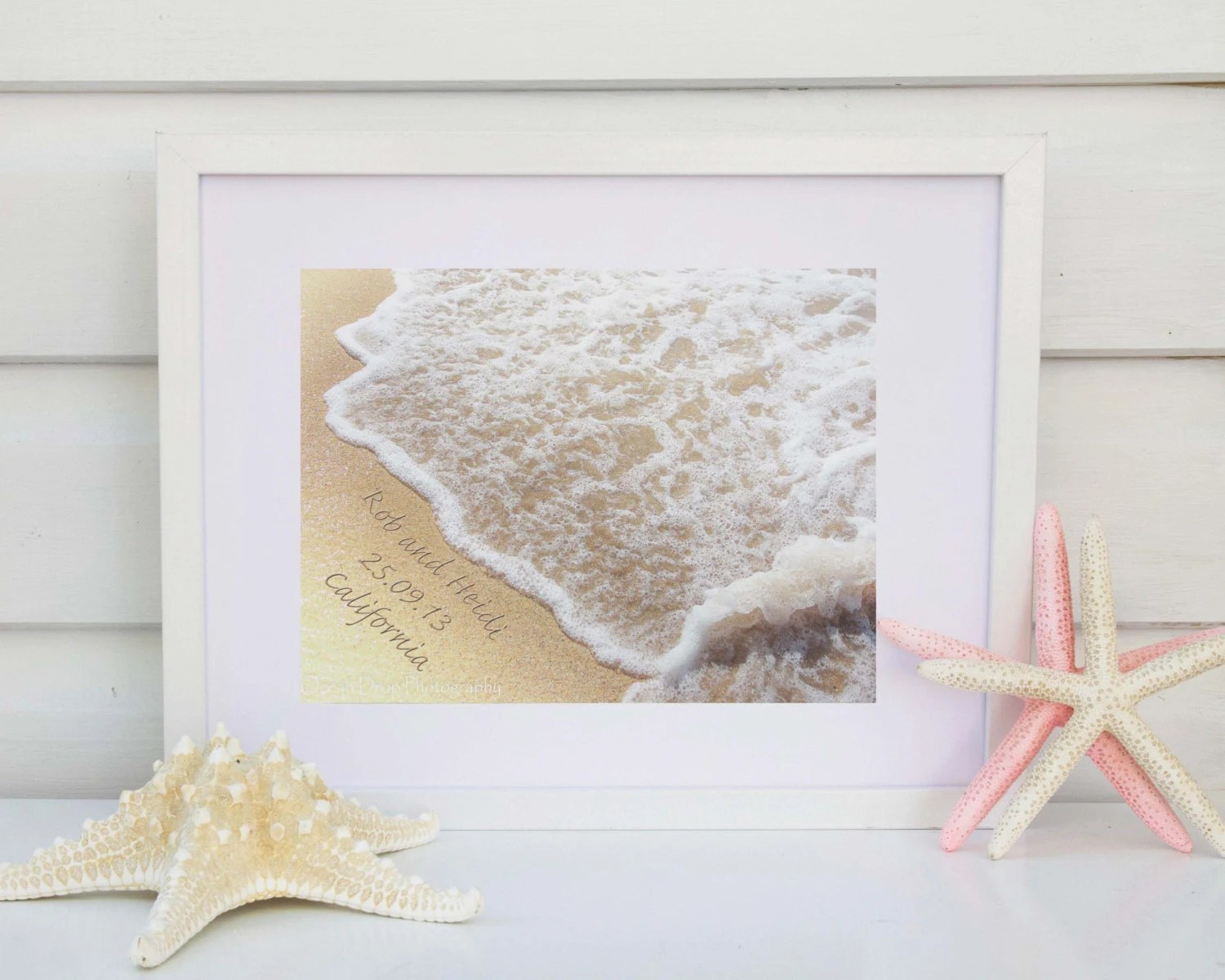 Name In The Sand Print Beach Wedding Gift Personalized