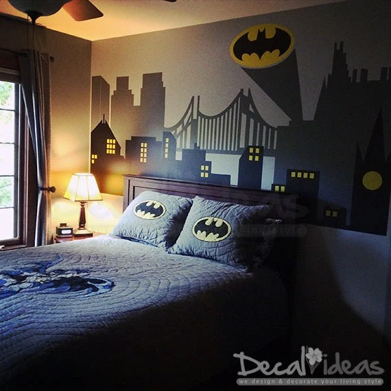 SuperHero City Wall Decal by StunningWalls
