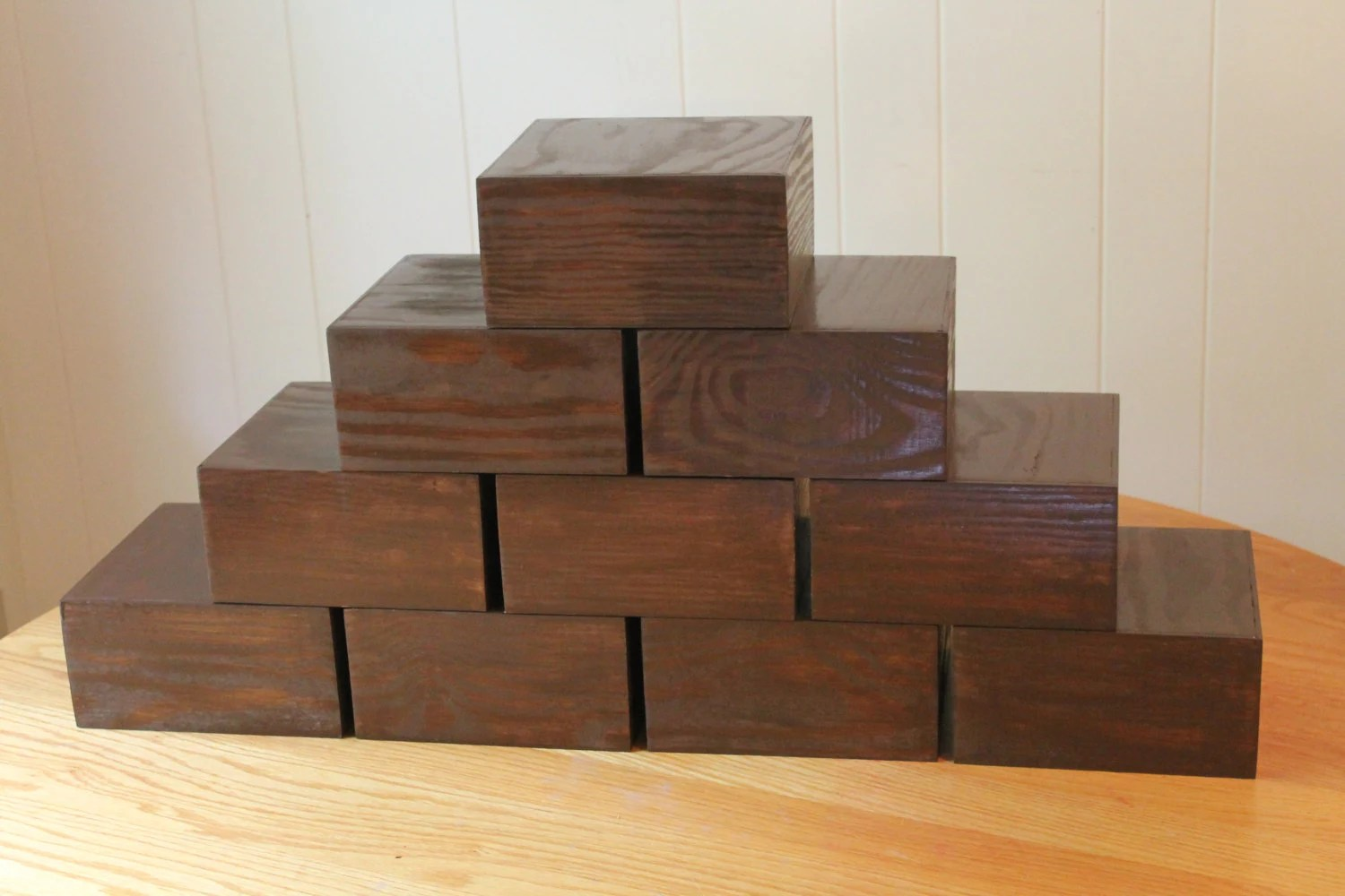 Wooden Stand Plinth Table Centerpiece Riser Box Display Stand