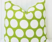 Green Polka Dot Pillow - Premier Prints Green Dandie Dot Pillow - Decorative Pillow Throw Pillow Green White Polka Dot PIllow Cover