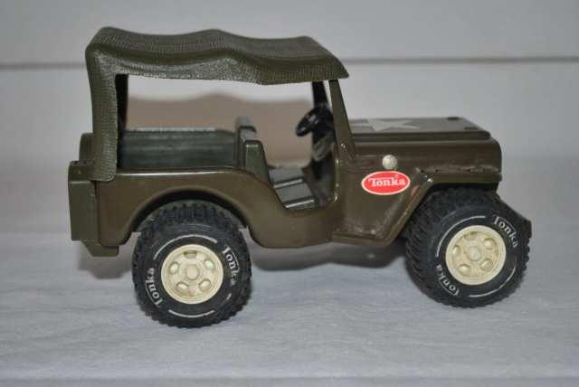 Vintage Pressed Steel Tonka Army Jeep by HarpersFerryGypsyMkt