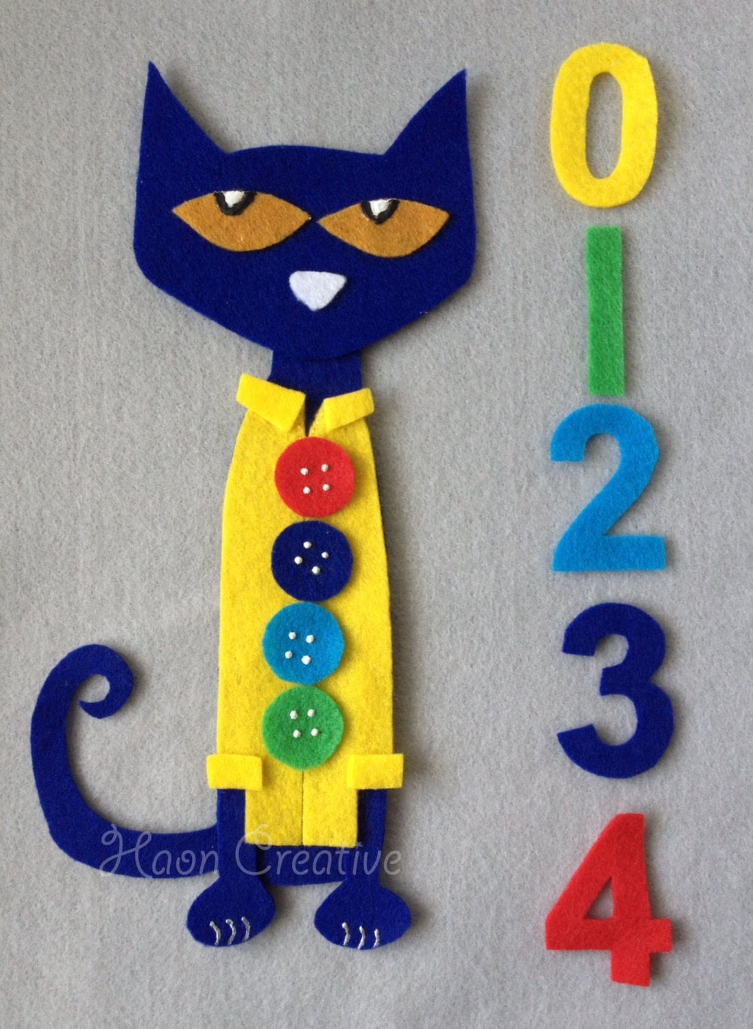 Pete The Cat And His Four Groovy Buttons Felt By Haoncreative