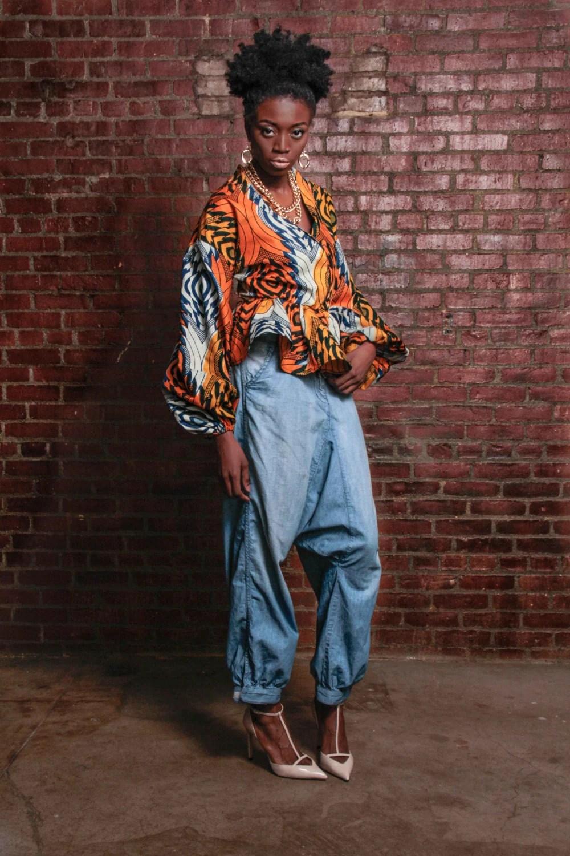 ankara african print peplum top