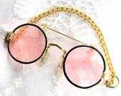 John Lennon Style Eyeglasses Brooch - Vintage Round Eyeglasses Brooch - Vintage John Lennon Style Eyeglasses Brooch - VintageRoseSupplies