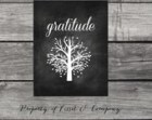 Gratitude Chalkboard Style Instant Download