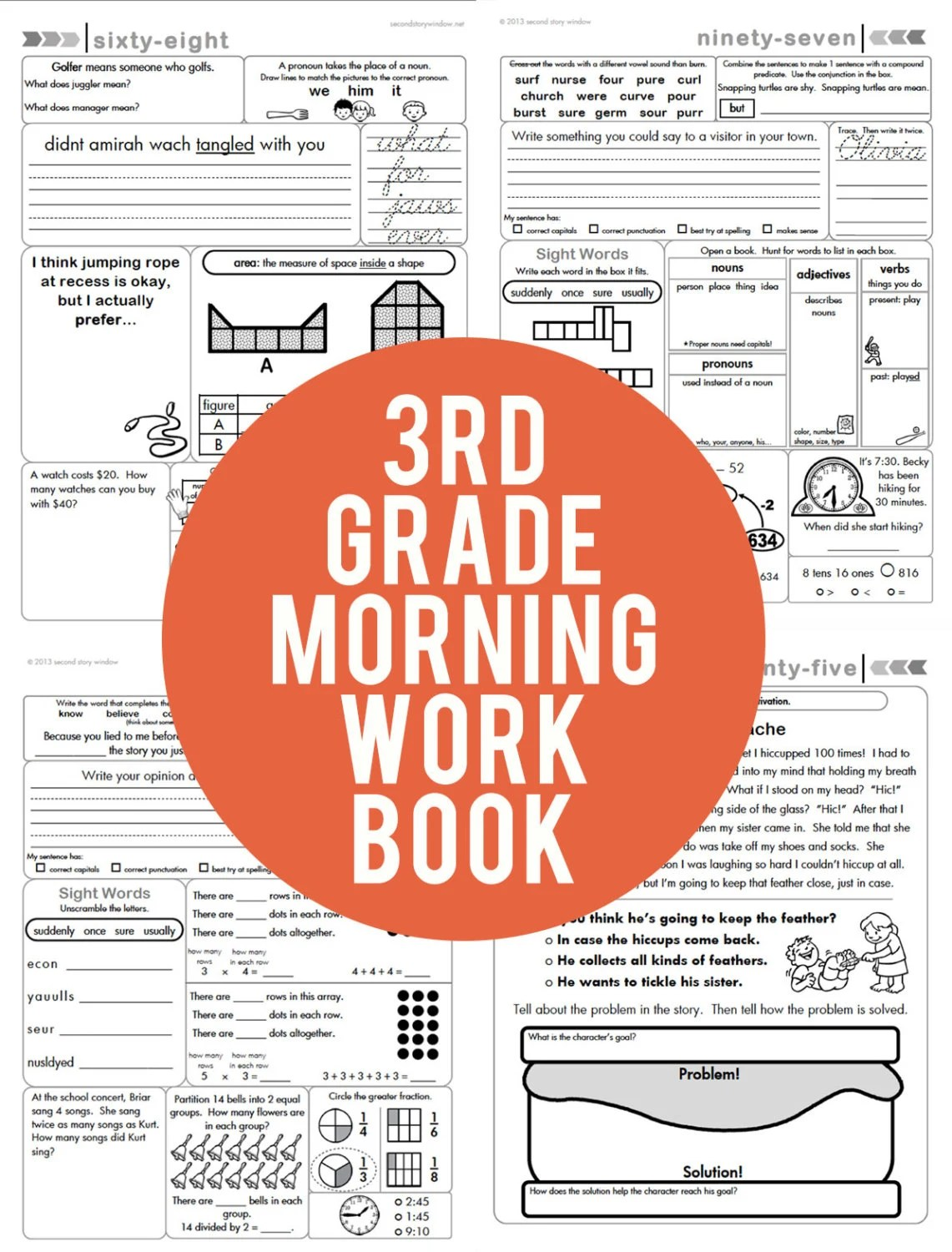 3rd Grade Common Core Morning Work Book