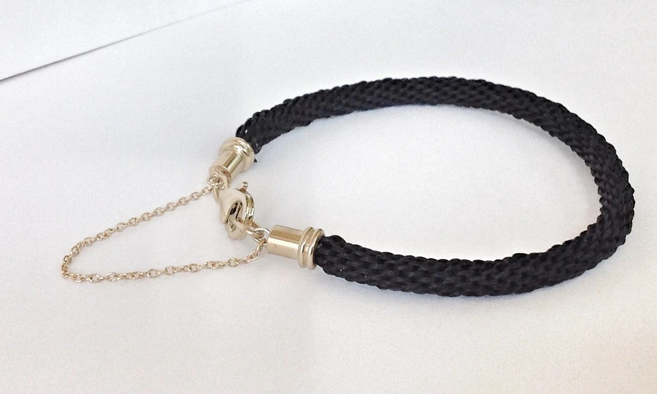 14 Kt. Custom Horse Hair Bracelet
