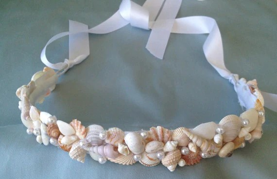 Seashell Wedding Hair Crown Seashell Tiara Beach Wedding