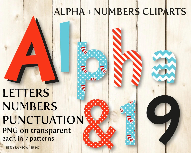Dr Seuss Alphabet Clip Art Digital Letters And Numbers