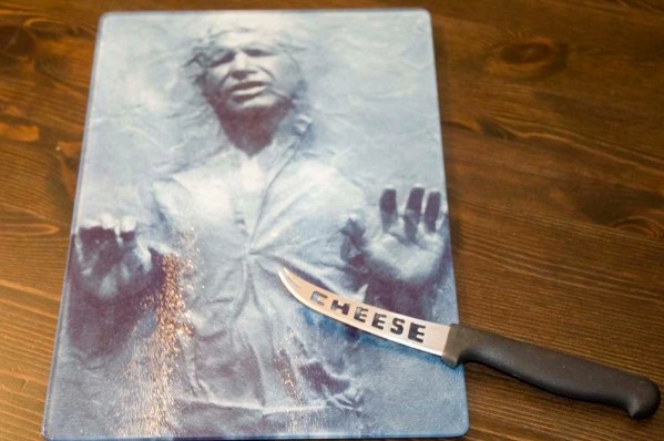 Han Solo in Carbonite Glass Cutting Board Platter
