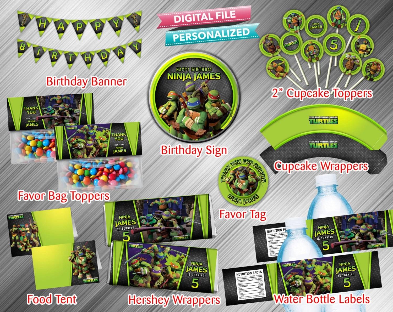Teenage Mutant Ninja Turtles Printable Party Package