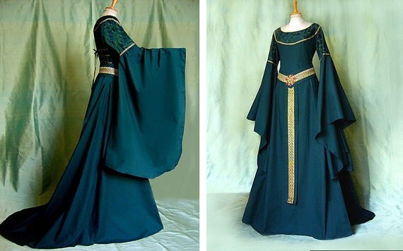 Mittelalter Kleid TALRIEL Elfenkleid Larp Eowyn