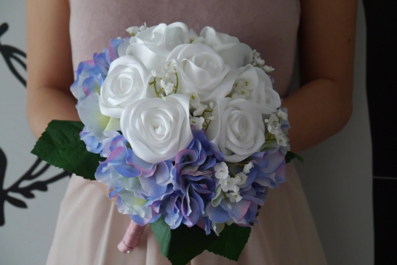 White & Purple Satin Ribb...