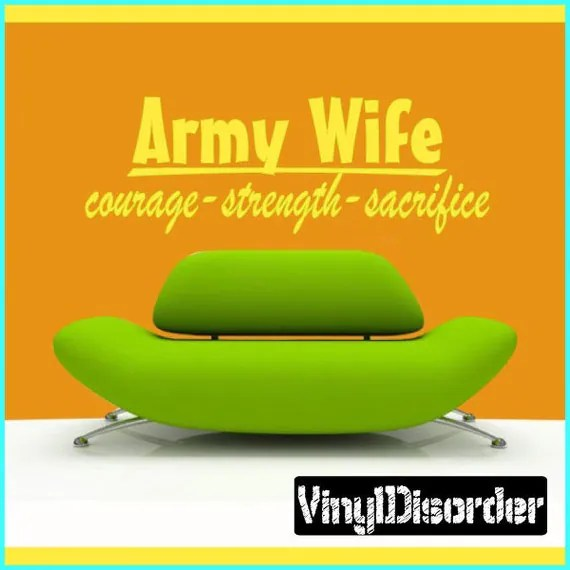Army Wife Courage Wall Decal by VinylDisorder