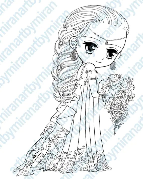 princess digital stamps big doll for