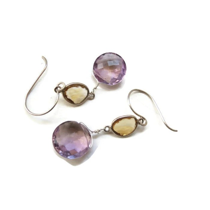 Ametrine and Citrine Sterling Silver Earrings ... - OpheliaJaine