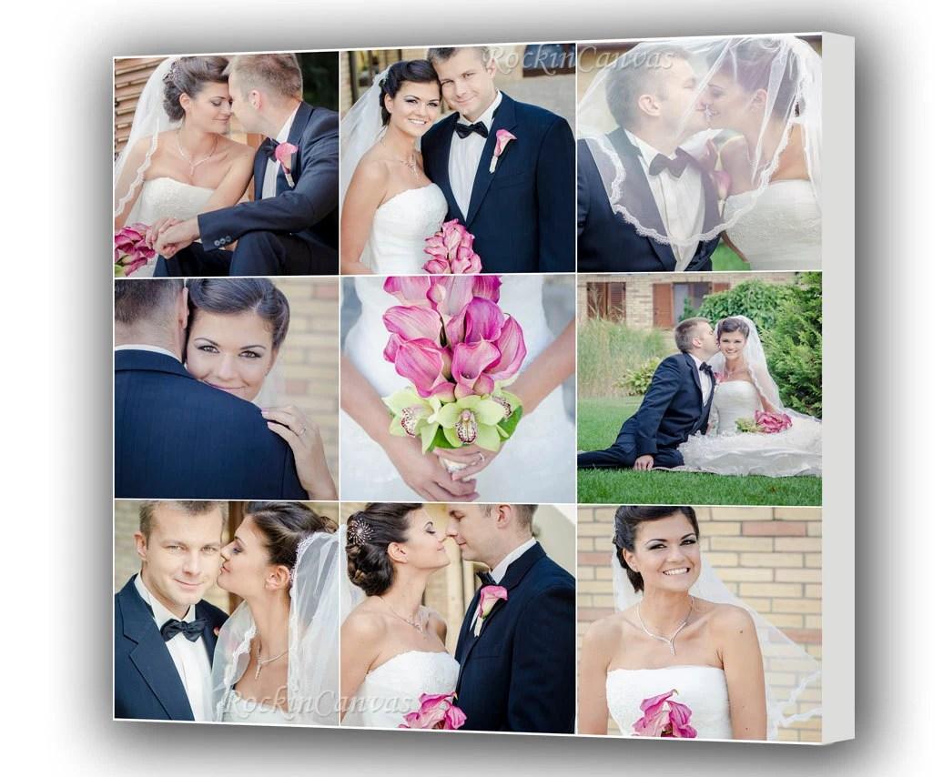 Leinwand Foto Collage Geschenk Personalisiert Hochzeit Bilder