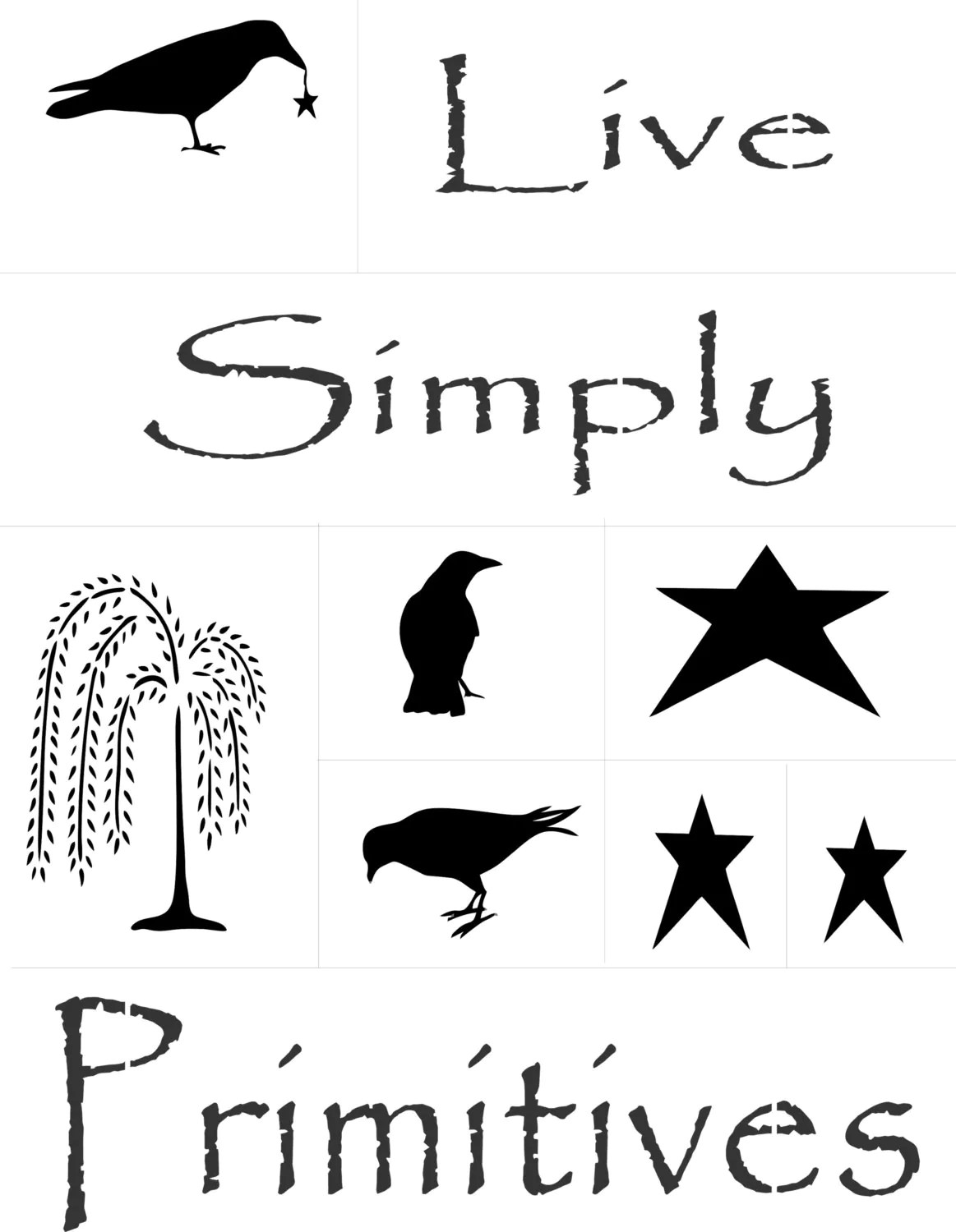 Primitives Stencil Pack For Painting Live Simply By