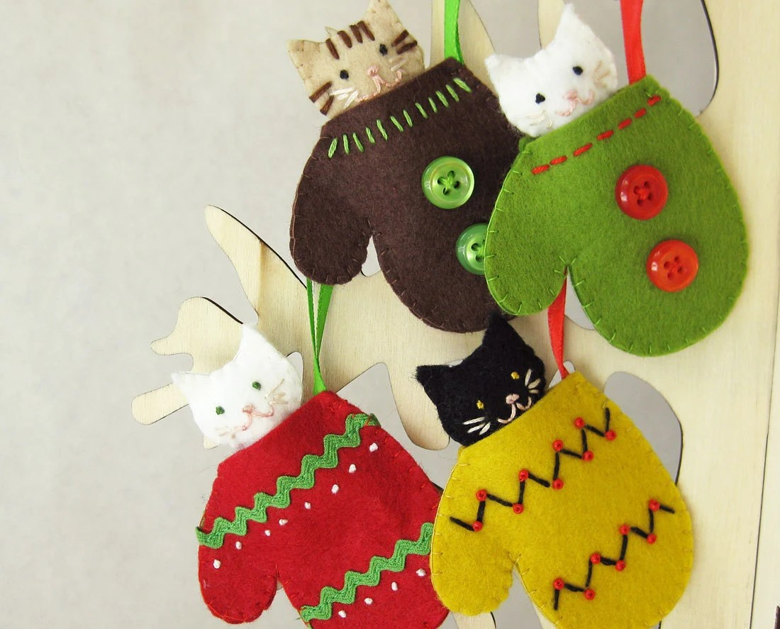 Kitten In A Mitten Holiday Ornament One