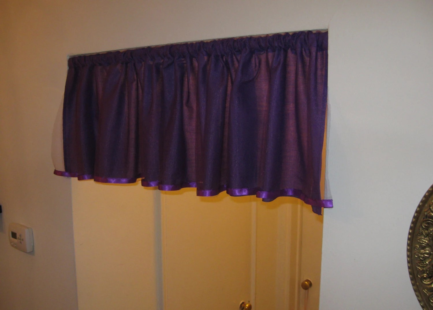 Tulle Valance With Satin Ribbon Choose Your Color