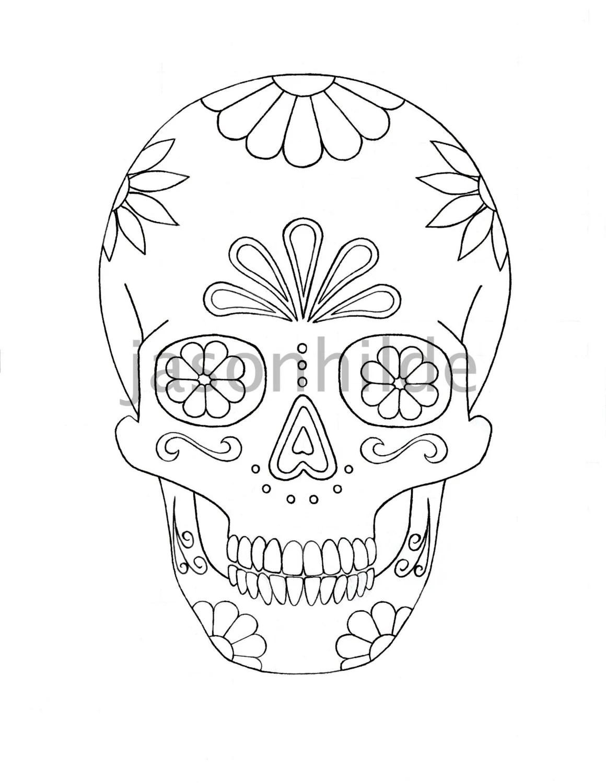 don sugar skull colouring pages