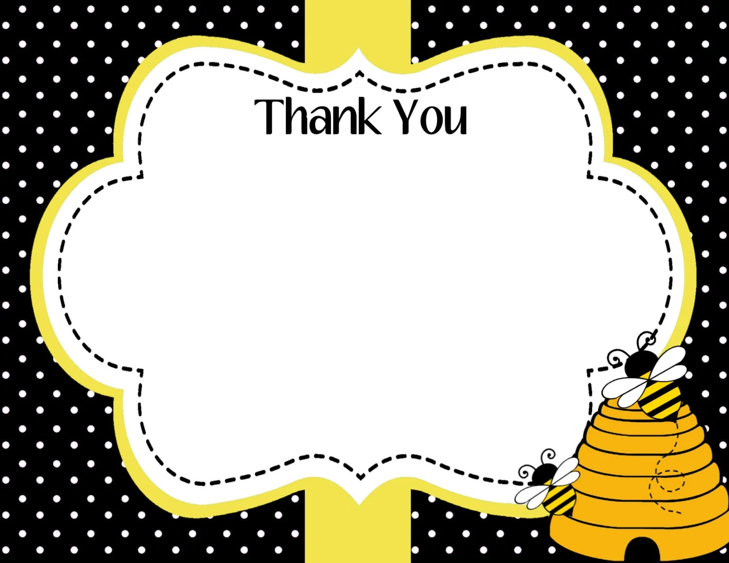 Mommy To Bee Baby Shower Thank You Card Bee Day Thank You