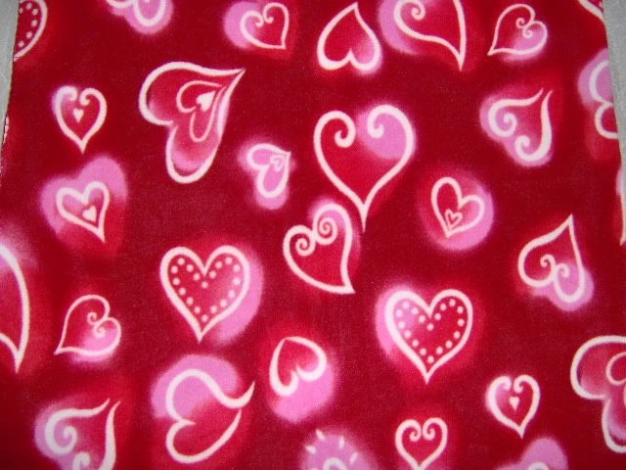 Valentine Red Hearts Twin Fleece Blanket By