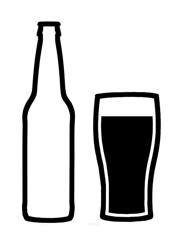 Craft Beer Bottle And Glass Vinyl Decal By Speakologydotnet