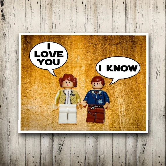 Download Star wars poster I love you I know Print Han by ...