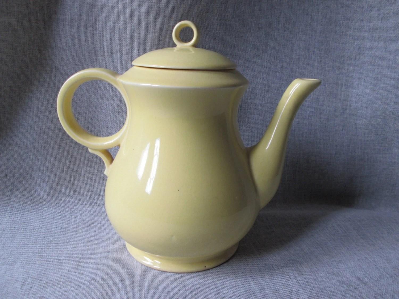 Paden City New Virginia Shape teapot with Caliente/Shenandoah Pastels, 1940s