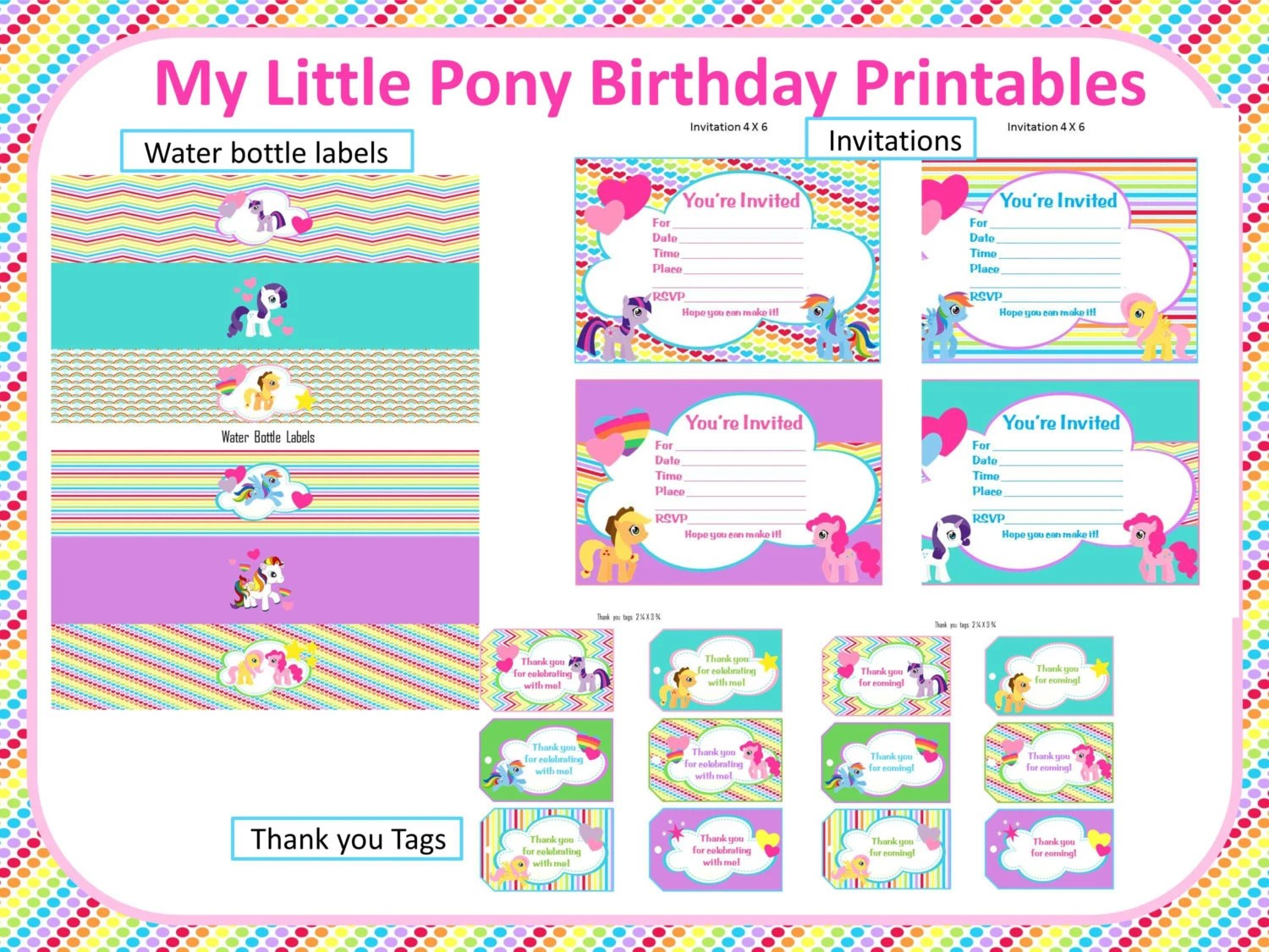 My Little Pony Rainbow Birthday Printables