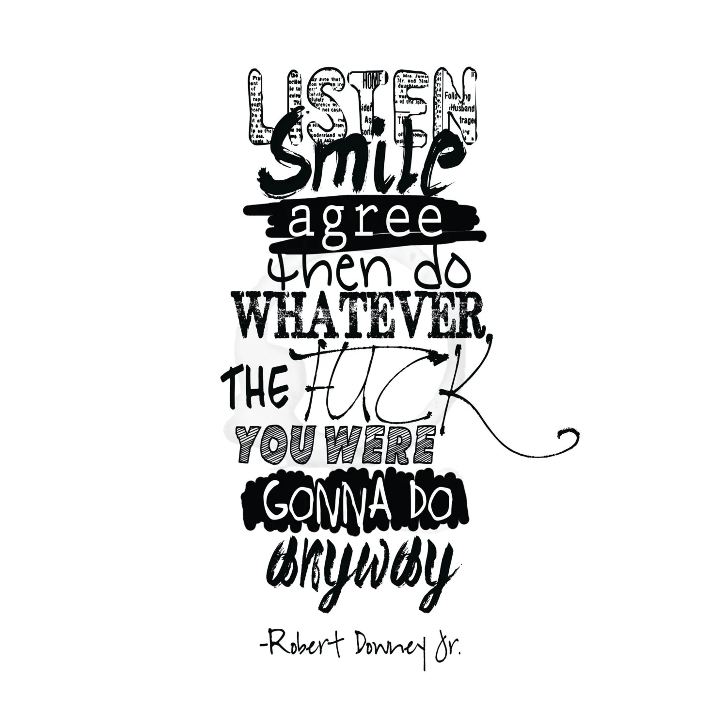 Robert Downey Jr Quote Digital Download By