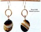 Sardonyx Earrings Black Banded Earrings Black and White Earrings Everyday Earrings Copper Earrings E2012-21