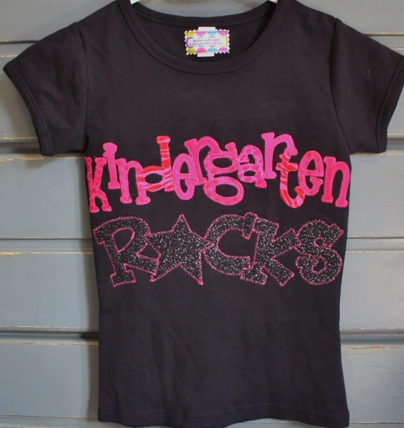 Kindergarten Shirt Girls Back To School Outfit 1st Day