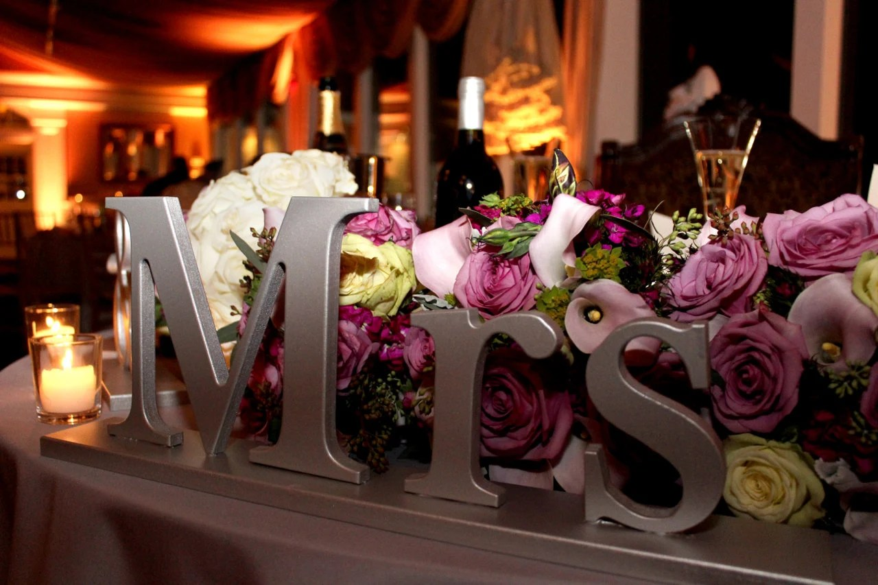 Mr And Mrs Wedding Signs For Sweetheart Table By ZCreateDesign