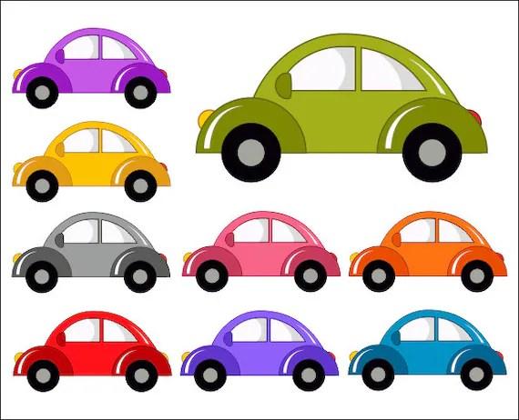 Cute Cars Digital Clip Art, Funny Cars Clipart - Instant ... (570 x 462 Pixel)