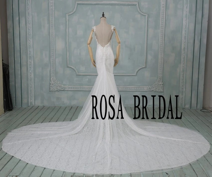 Cathedral Wedding Dress Lace Vintage Wedding Dress By