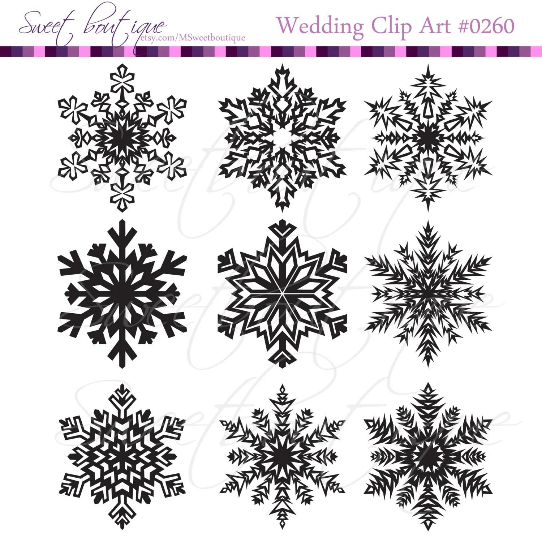 Black Christmas Snowflakes Snowflake Clipart Snowlake Clip