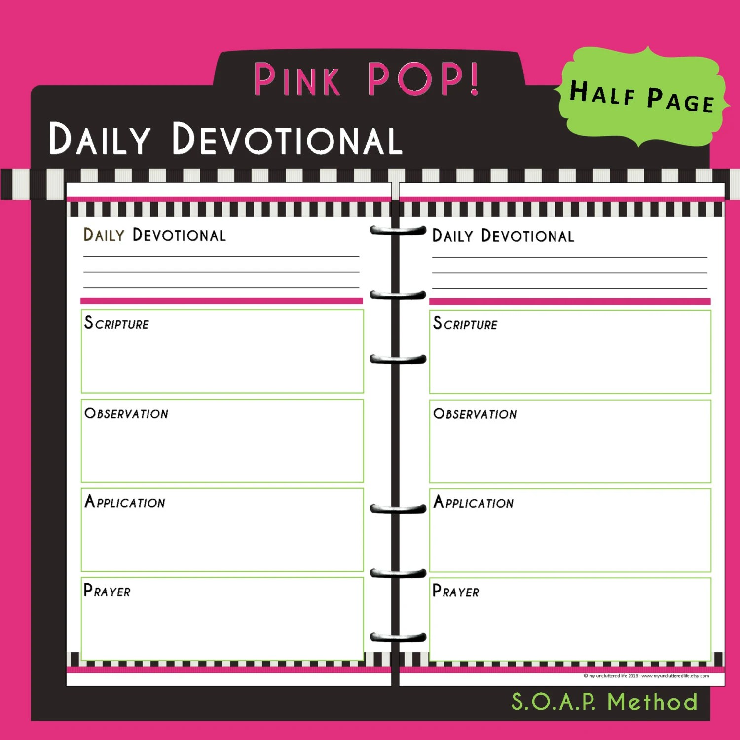 Us Half Page Printable Bible Study Daily By
