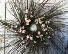 Birch twig, Grass & Pink Cherry Blossom Wreath - 26""