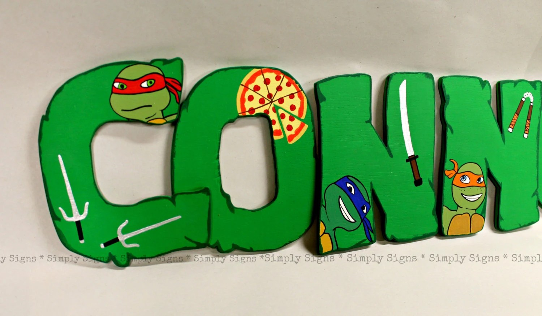 Personalized Teenage Mutant Ninja Turtle By Simplysignsbyjess