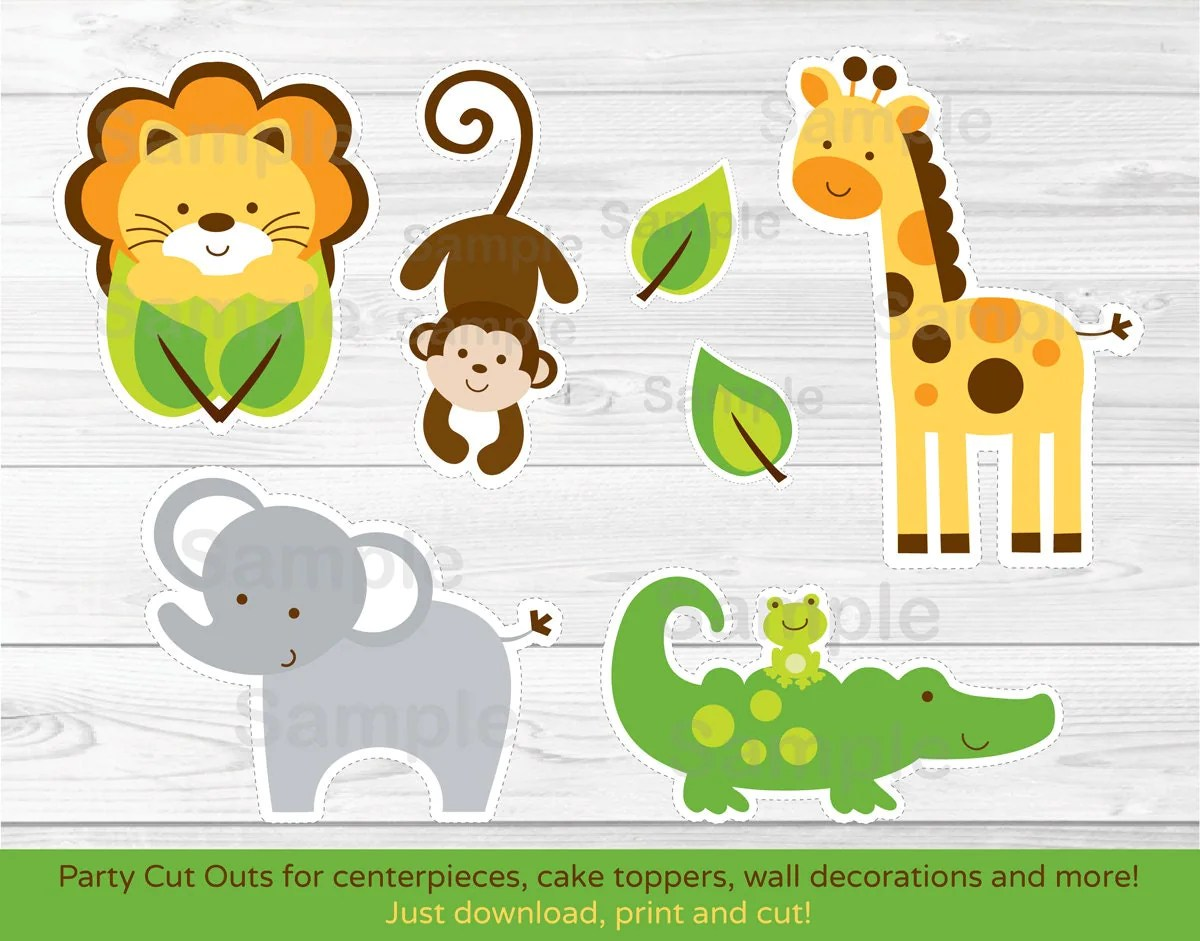Jungle Safari Animal Cut Outs Centerpiece Wall Decor