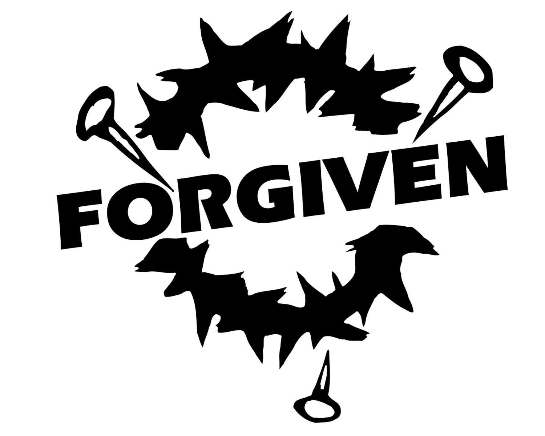 Forgiven Bumper Sticker Jesus Christ Forgiven Decal Crown