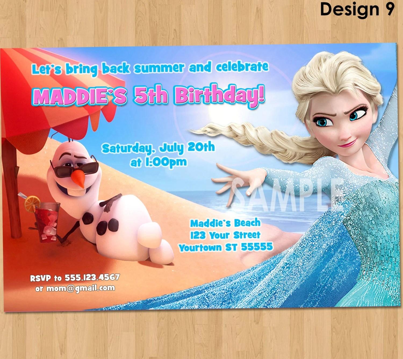 Frozen Summer Birthday Invitation Frozen Summer Invitation