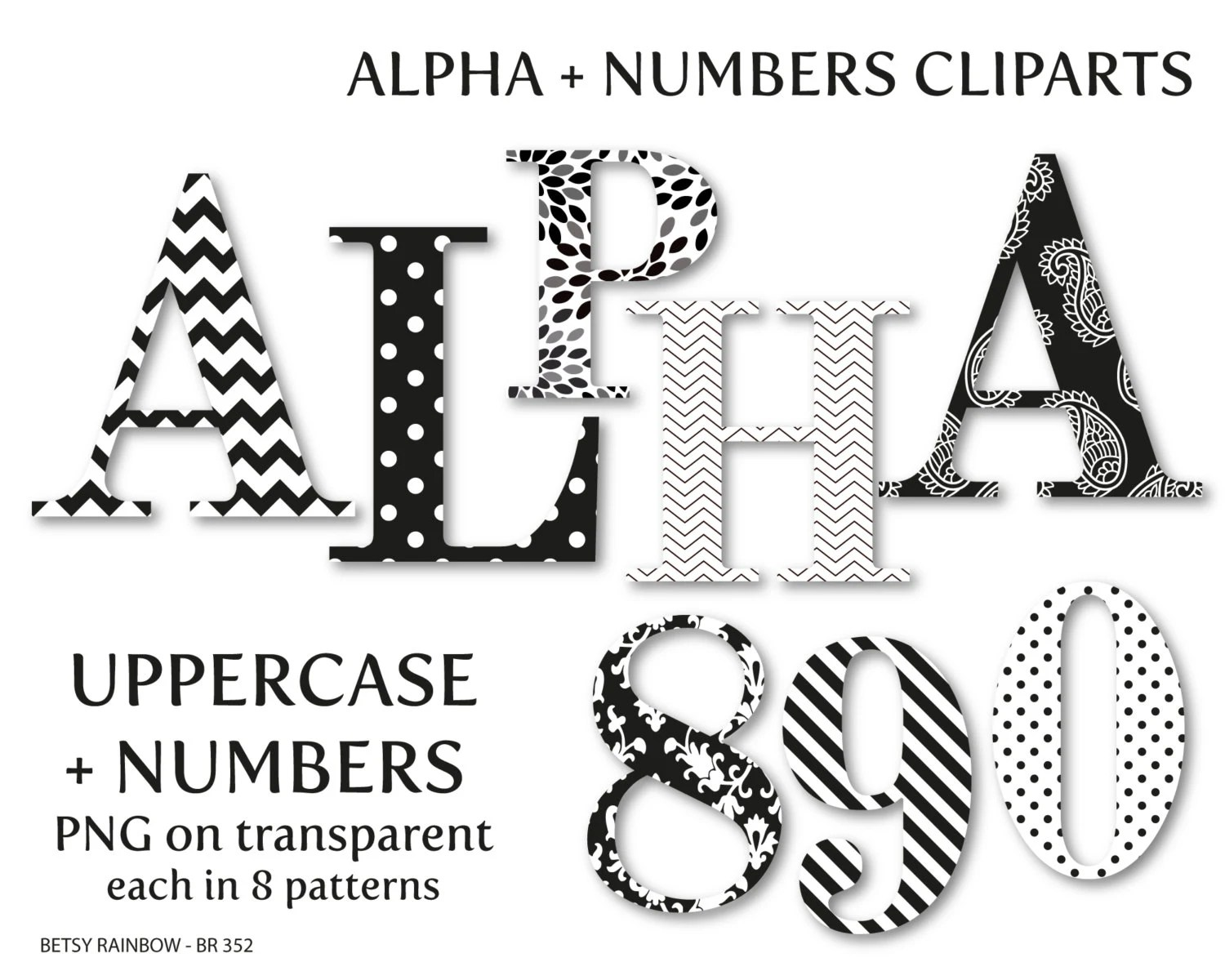 Black And White Alphabet Clip Art Letters And Numbers Letter