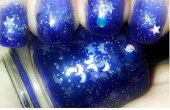 "Color Changing Thermal Nail Polish - ""STARRY NIGHT"" - NEW - Temperature Changing - Custom Blended Polish/Lacquer - 0.5 oz Full Sized Bottle - BigTRanchSoap"