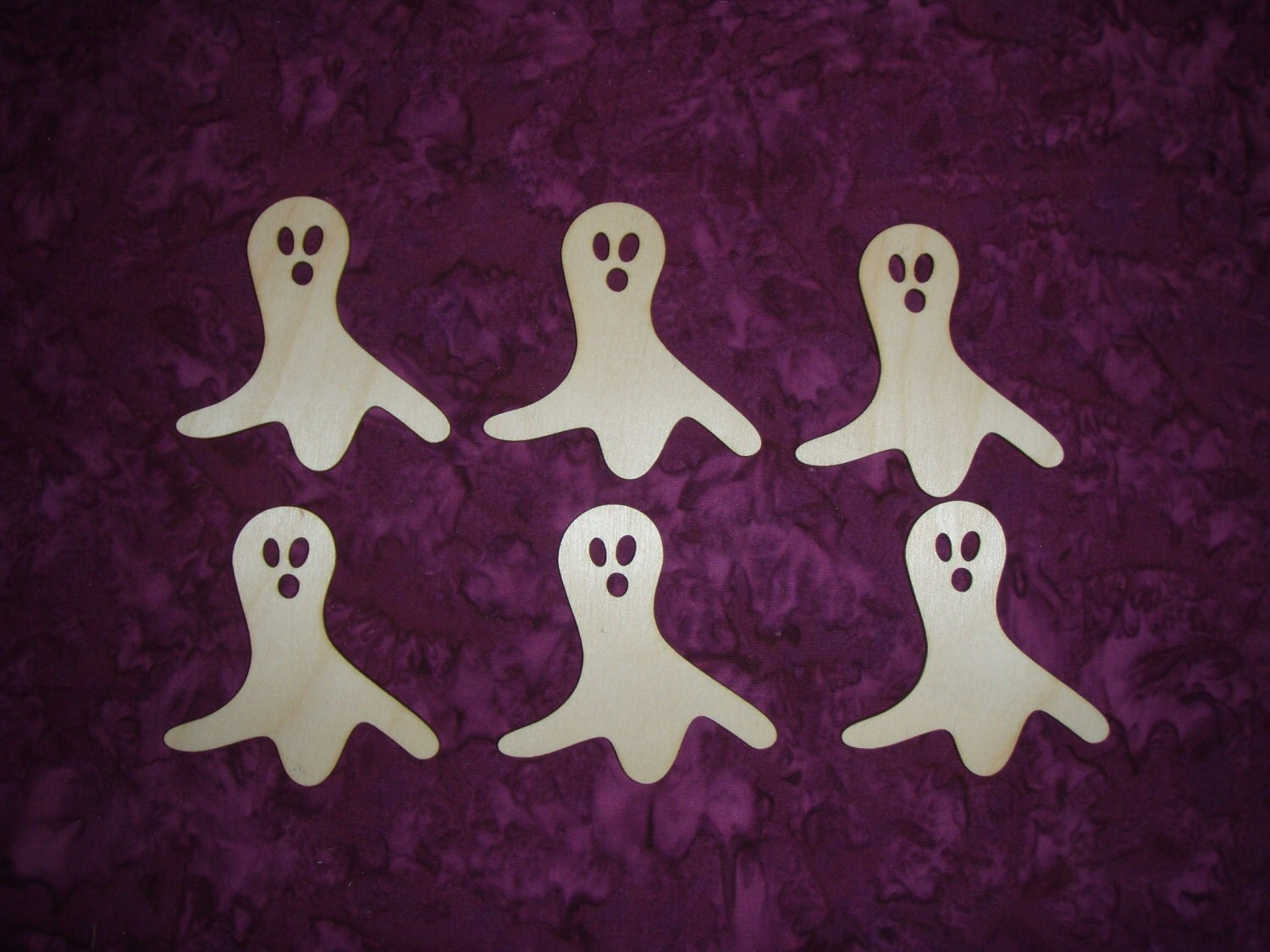 Ghost Shape Wood Cut Out Unfinished Wooden By