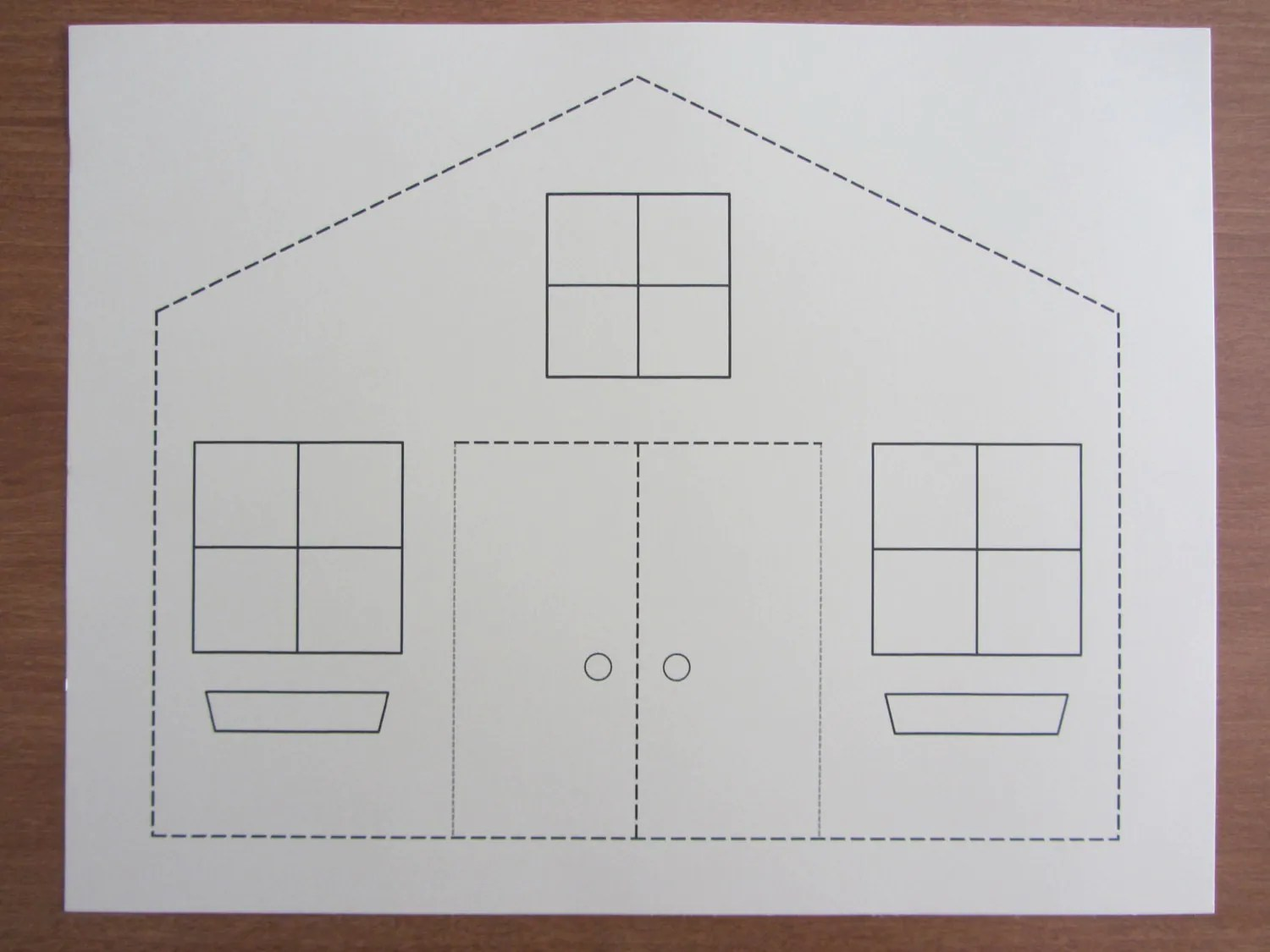 3d Paper House Craft For Kids Instant Download Template